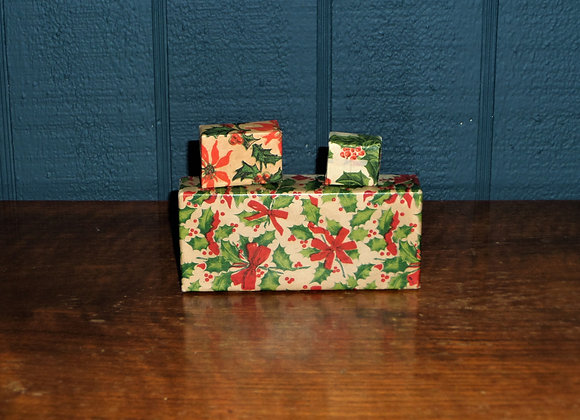 Set of Three Vintage Holly Boxes