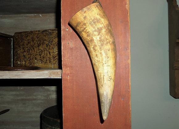 18th Century Cow Horn Whetstone Carrier