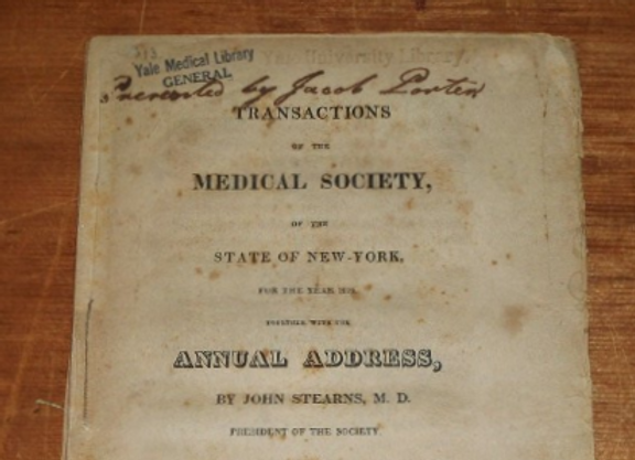 1819 Transactions of the Medical Society of the State of New York