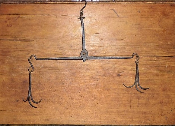 Mid 18th Century American Colonial Period Fur Trader's Balance Scale