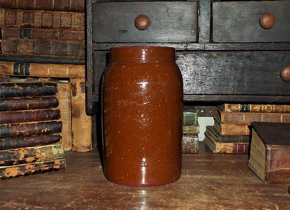 Antique Pennsylvania Redware Canning Jar