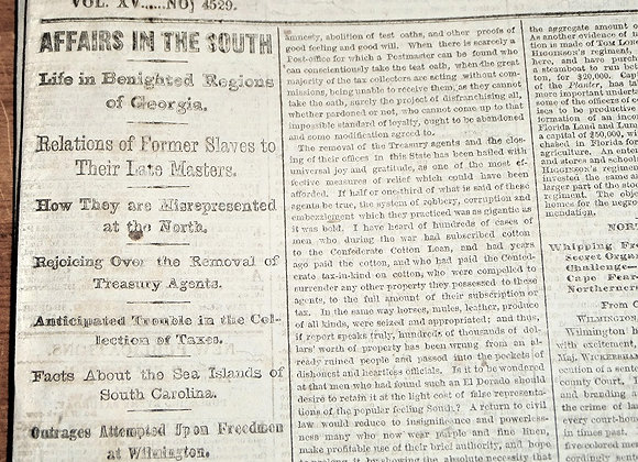 NY Times - Freedmen and Their Former Owners - Women's Rights - 4/2/1866