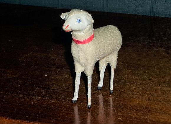 "Antique 4.5"" German Putz Sheep"