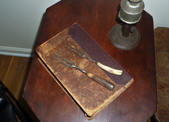 Set of Two 18th Century Two Tine Forks