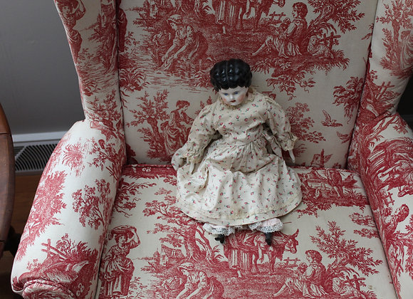 Late Victorian Porcelain Head Doll with Original Arms, Legs, and Body