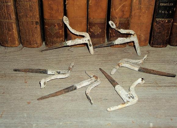 19th Century Shutter Pintles - 23 Individual Dog Pintles