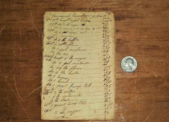 Early 1800's Boarding House/Commercial  Ledger - New England - Brimstone