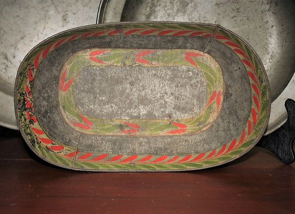 19th Century Tole Painted Tin Breadbasket