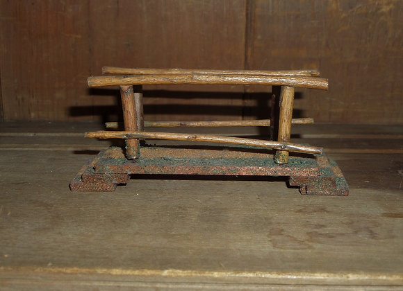 A Long and Painted Antique Twig Bridge for Putz Displays