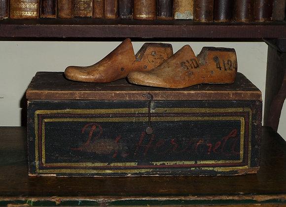 Vintage Children's Shoe Molds with Metal Heels