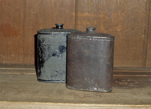 Two Small Civil War Black Powder Tins