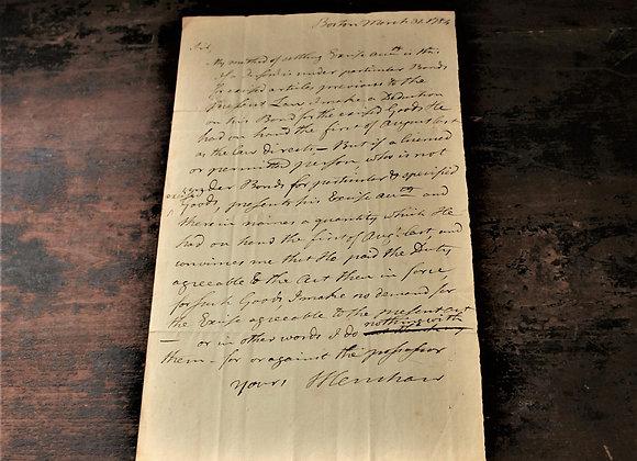 1784 Captain Henley Tax Document