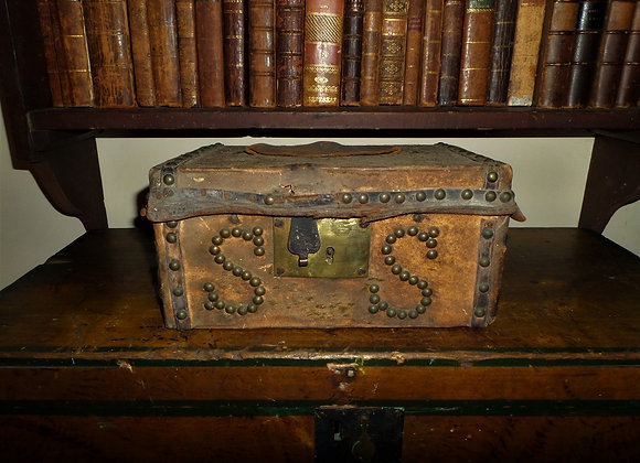1816 Deerhide Document/Travel Box Made in Boston