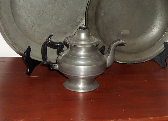 Rare Circa 1835 Allen Porter (Maine) Pewter Teapot