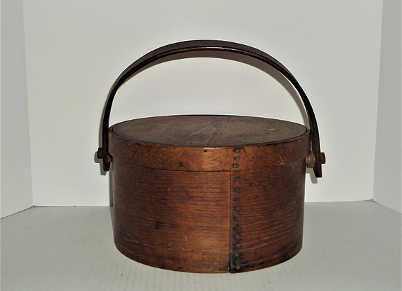 Antique Wood Handle Covered Pantry Box