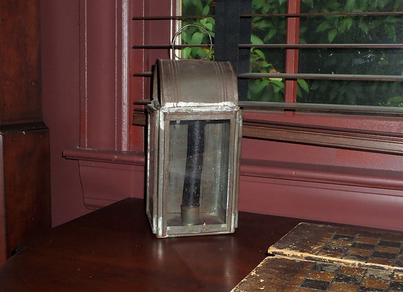 Early 19th Century Glass and Tin Lantern