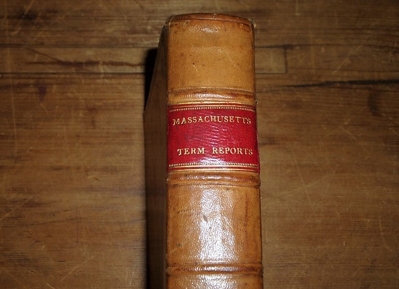 1811 Massachusetts Reports of Case Before the Supreme Court