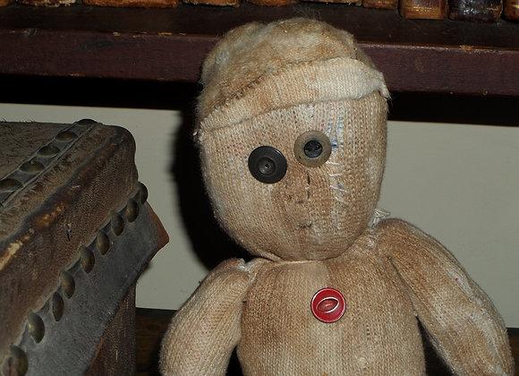 Primitive Handmade Cloth Boy 'Sock' Doll - Susie Grant Doll