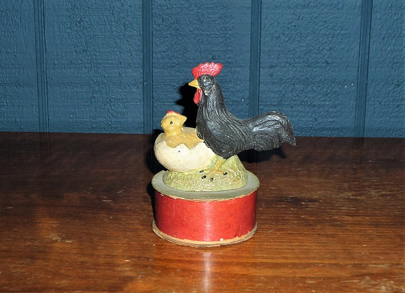 Antique German Hen and Chick Candy Container