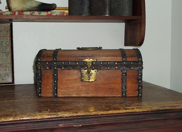19th Century Dome Top Box in Original Patina