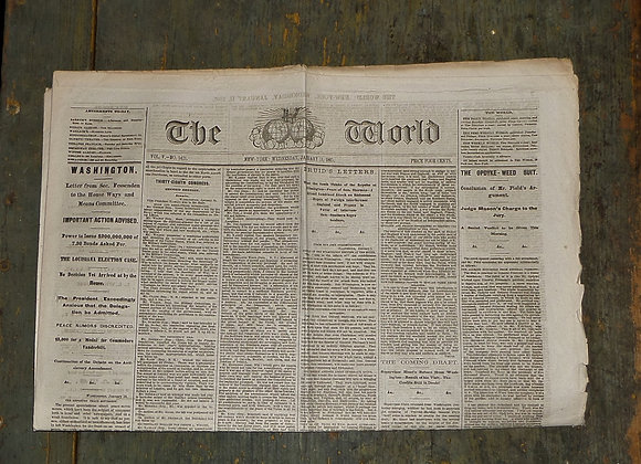 The World Newspaper 1/11/1865 - The Great Trunk Tragedy