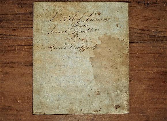 1777 Philadelphia Vellum Indenture - Signatures of Revolutionary War Patriots