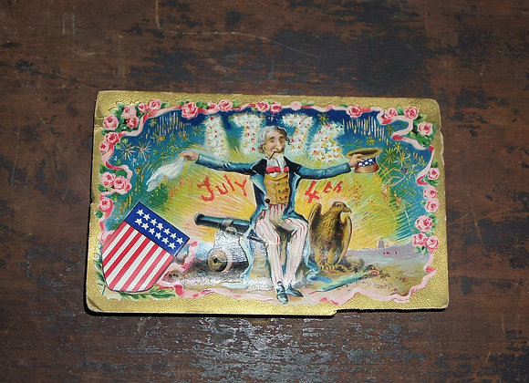 Circa 1909 Squeaky Fourth of July Postcard