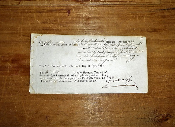 1769 Signature of John Lukens - Abraham Buchwalter - Revolutionary War