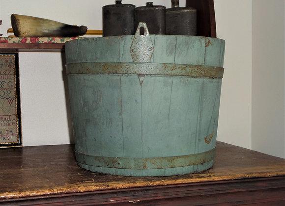 Antique Blue Shaker Sap Bucket - Enfield, NH