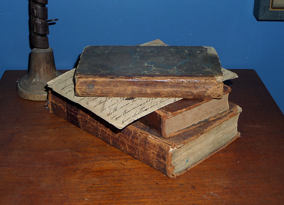 18th Century German Religious Book with Marbelized Covers