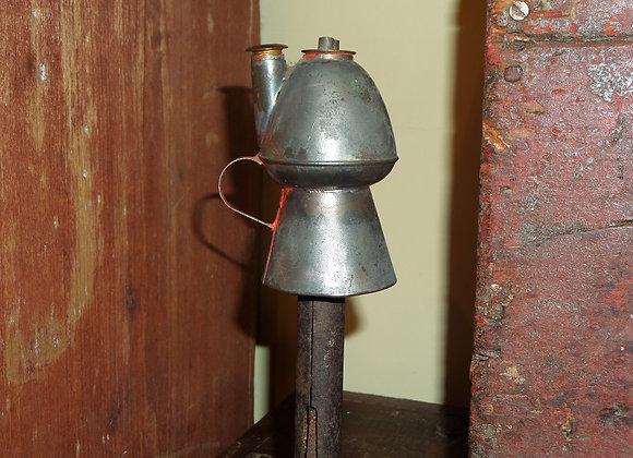 Early 1800s Tin Petticoat Peg Lamp