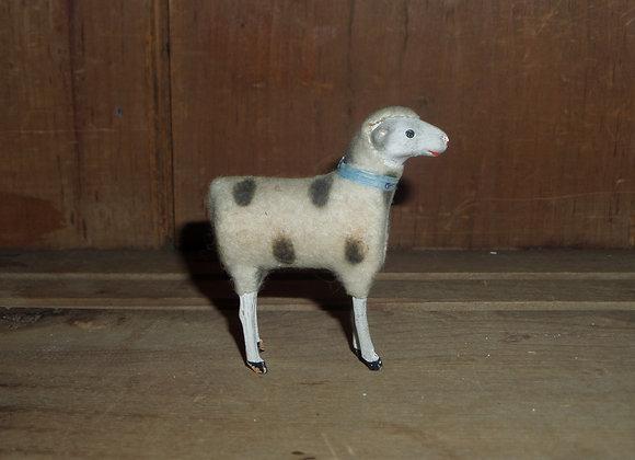 "An Antique German Putz 3"" Ewe with Beautiful Brown Spots"