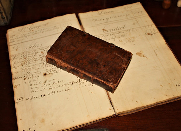 1828 German Language Mysticism Leather Book Based on Madame Guion's Teachings