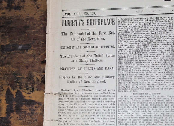 The Sun - NY Newspaper - Liberty's Birthplace - April 20, 1875