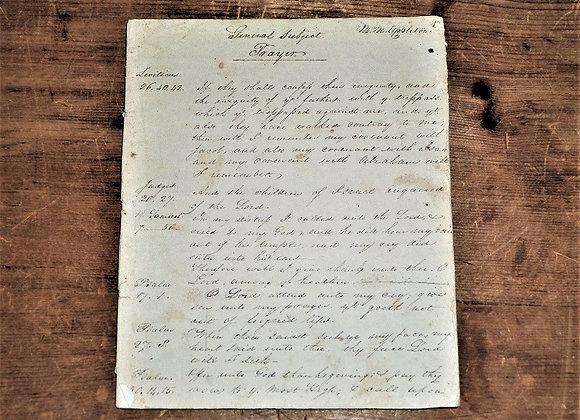 19th Century Reverend Appleton's Bible Verses for Sunday Sermons