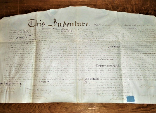 1836 - William Wood Thackara Signature as Witness on Philadelphia Deed