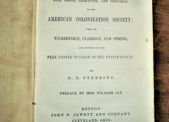 RARE 1853 First Edition of Influence of the American Colonization Society.