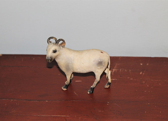 Antique 19th Century Putz Ram - RARE Paper Horns and Body