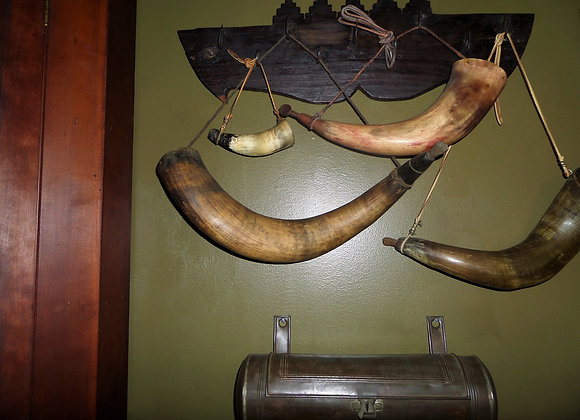 Early 19th Century Musket Powder Horn