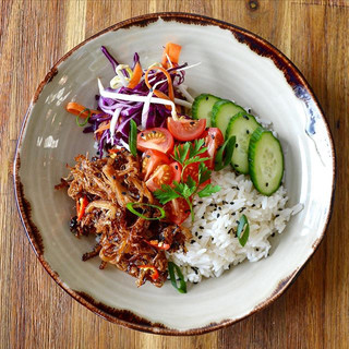 Crispy pork bowl