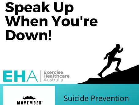 Men: Speak up when you're down!