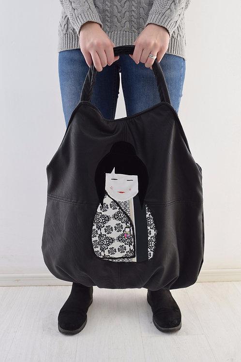 JAPPANESSE GIRL BAG B&W