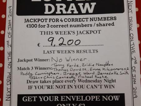 No Winner of Weekly Lotto