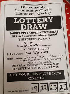 Wednesday night 30th Oct Lotto is €13,500