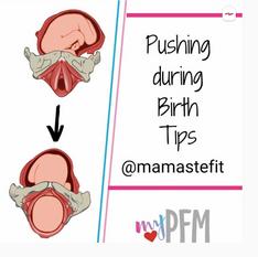 Pushing during birth tips