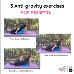 3 Anti-gravity exercises