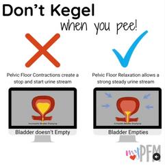 Don't Kegel when you pee!