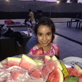 Enjoying benefits of Watermelon