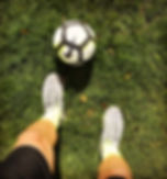 Football, grass, tainers,