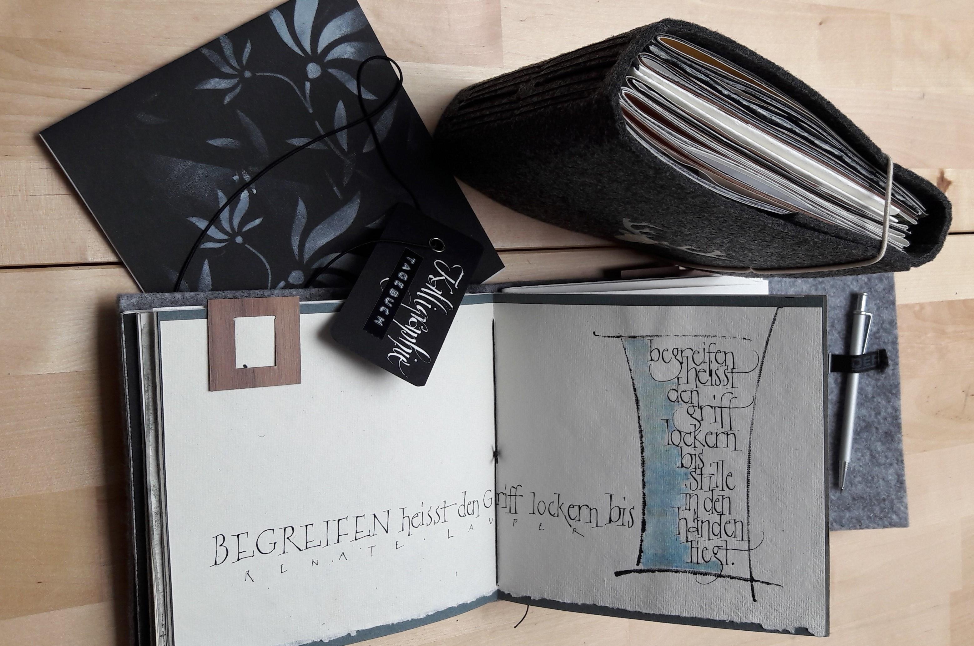 Kalligraphie-Tagebuch & Antiqua-Variatio